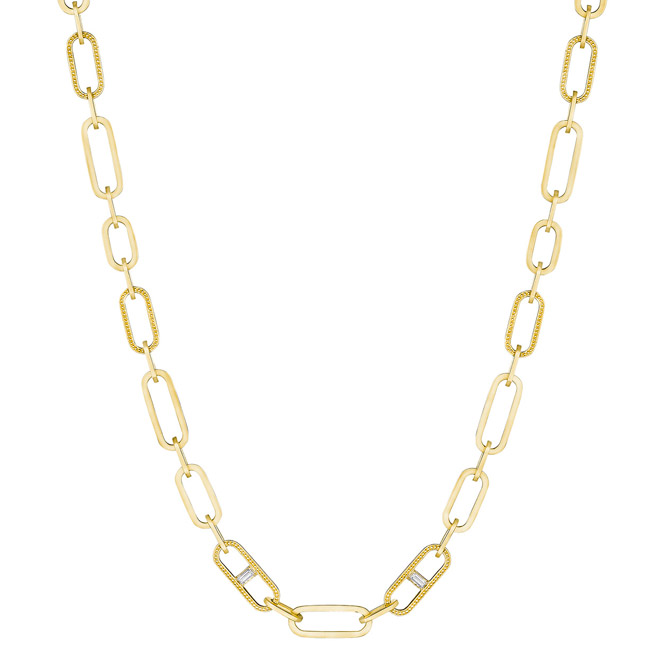 Penny Preville diamond baguette station necklace