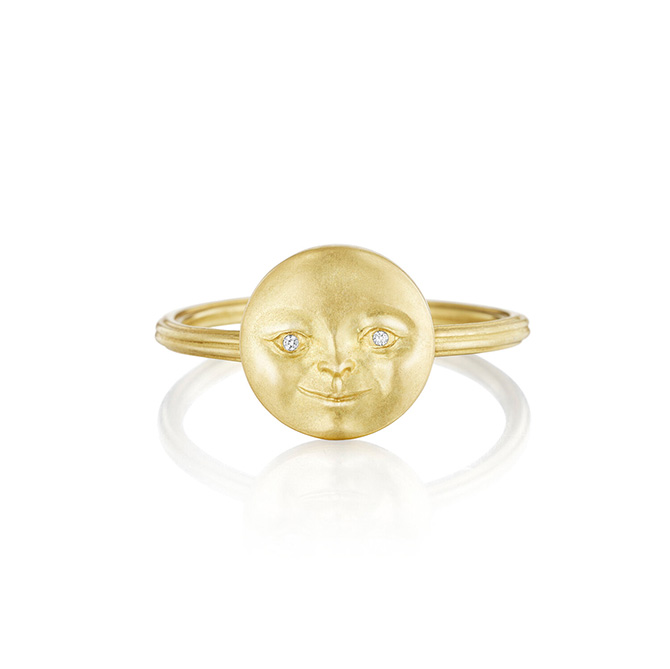 Anthony Lent moonface ring