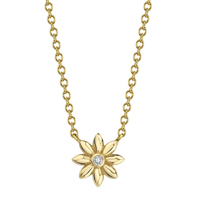 Ark Fine jewelry floral necklace