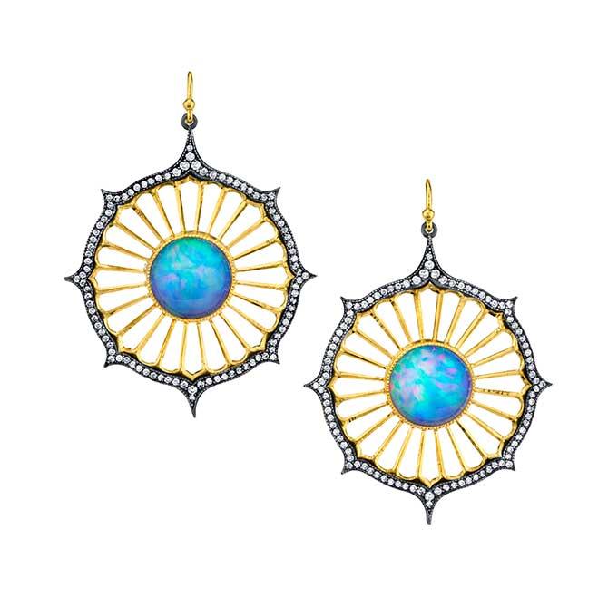 Arman Sarkisyan opal earrings