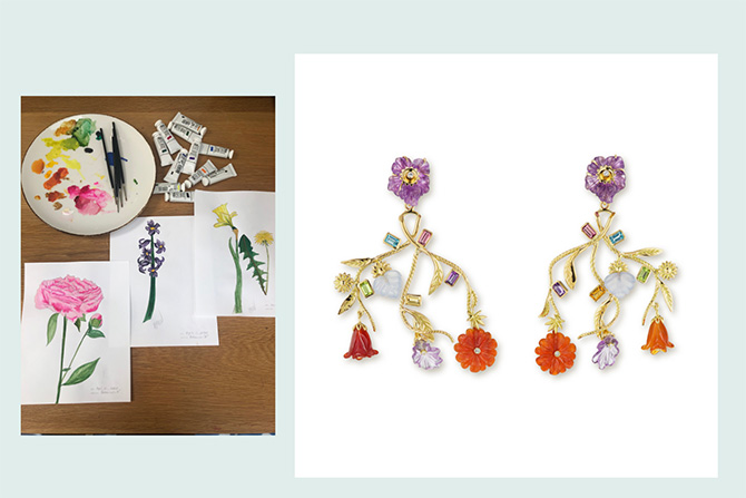 Brent Neale earrings and artwork