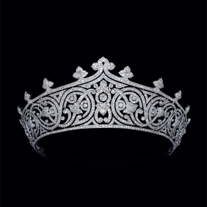 Chaumet Fleuron motif tiara Sothebys