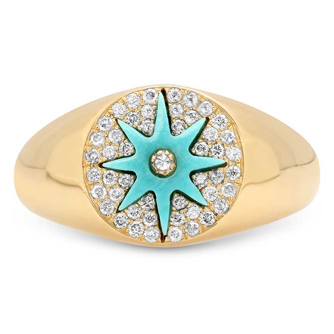Colette turquoise signet ring