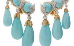 David Webb turquoise earrings