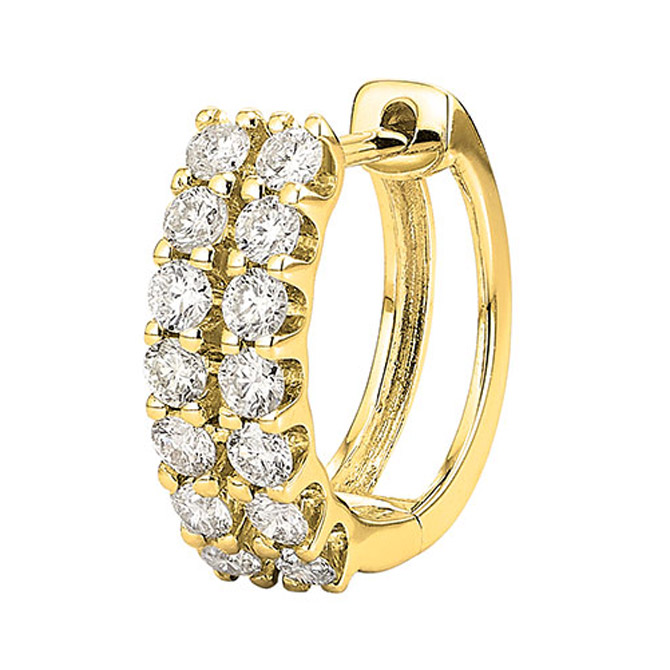 Yun Yun Sun No. 12 diamond double hoop earring