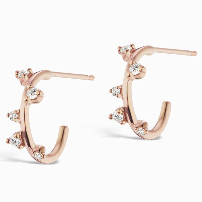Sophie Ratner mini scatter hoops
