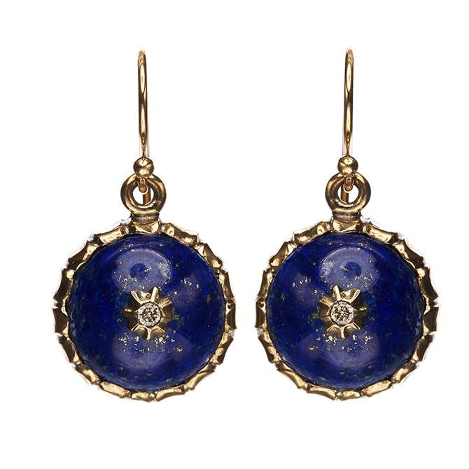 Philip Crangi lapis drop earrings