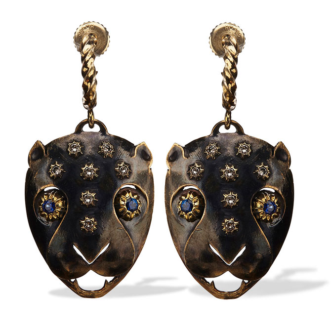Philip Crangi leopard earrings