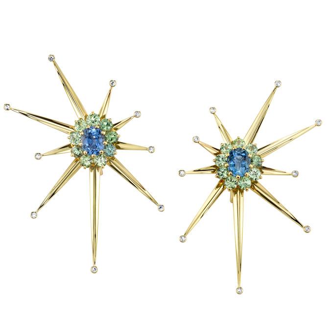Vram Supernova clip earrings