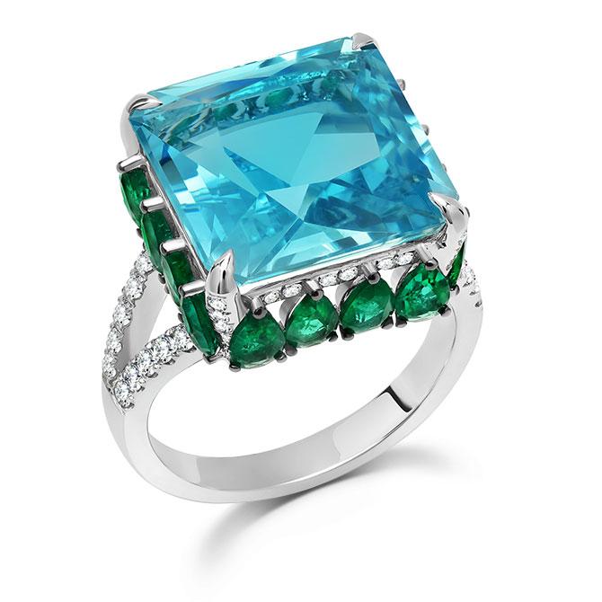 Graziela aquamarine ring