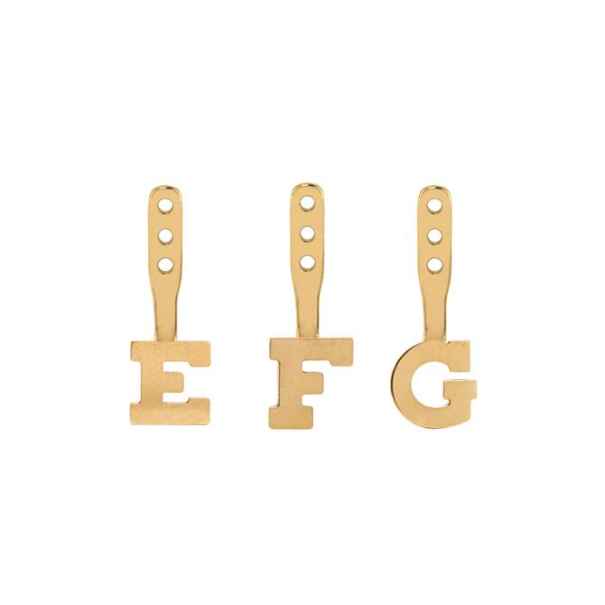 Hannah G gold alphabet charms