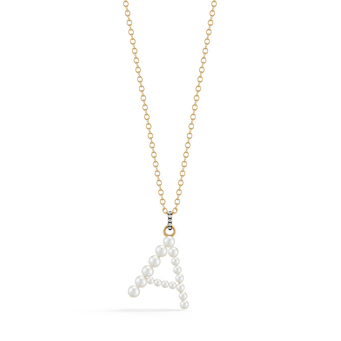 Jemma Wynne pearl initial necklace