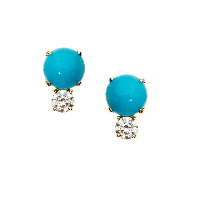 Jemma Wynne turquoise and diamond earrings