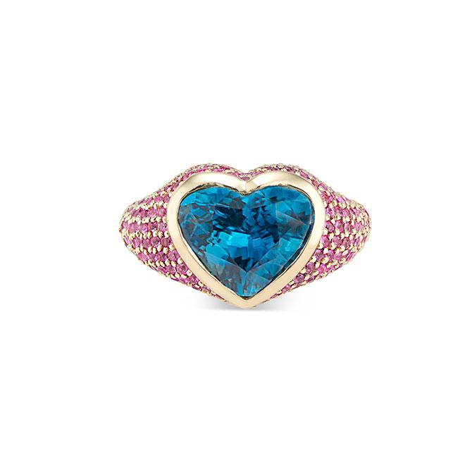 Kendra Pariseault heart zircon ring