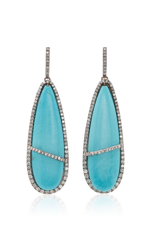 Kimberly McDonald turquoise earrings