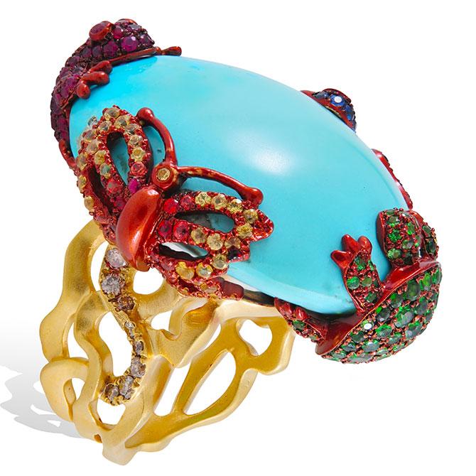 Lydia Courteile turquoise ring