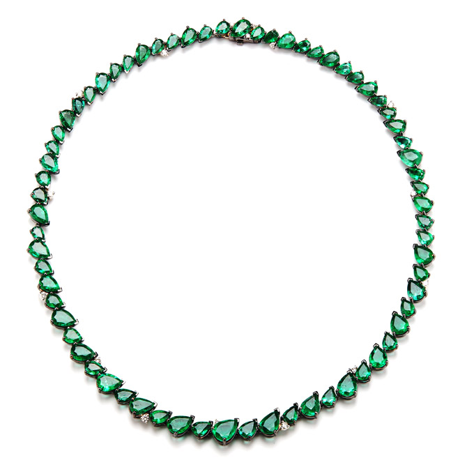 Parulina emerald necklace