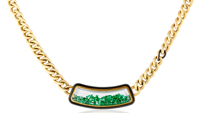 Moritz Glik The Collar emerald shaker necklace