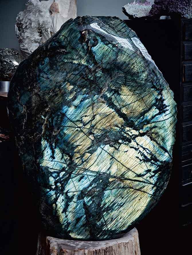 New Stone Age labradorite specimen