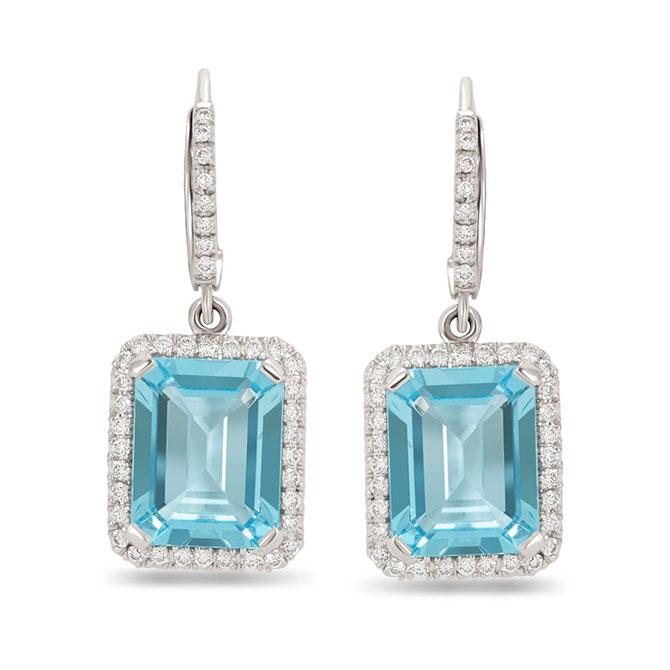 Nicole Rose blue topaz earrings