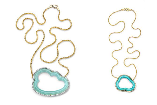 Pamela Huizenga Cloud necklaces