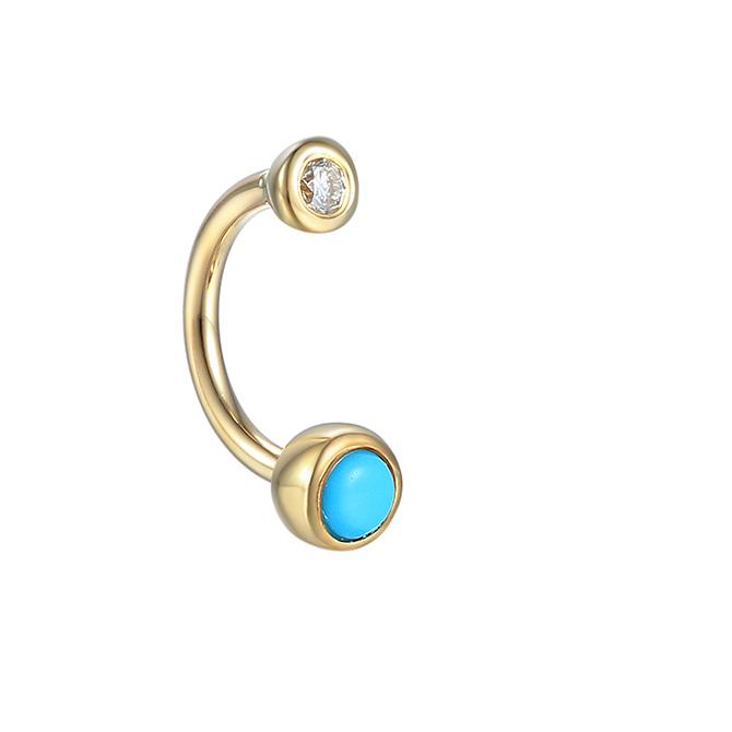 Pamela Love turquoise and diamond rook earring