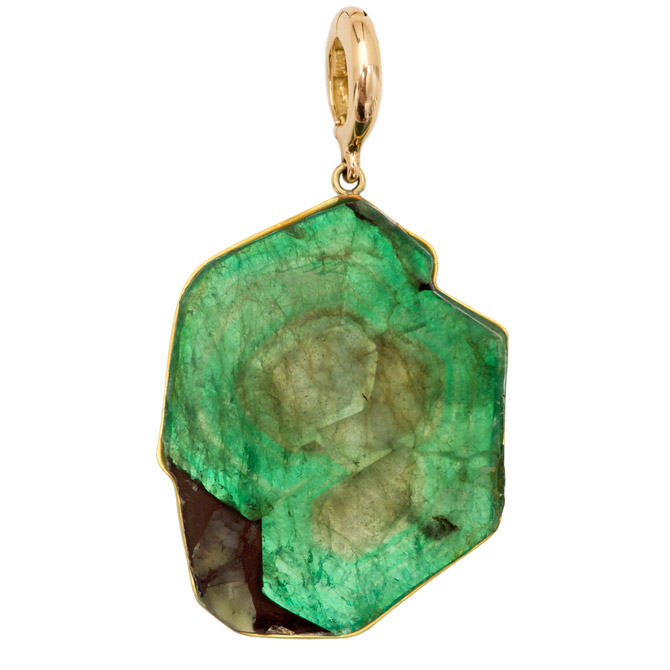 Rush Jewelry Design emerald slice pendant