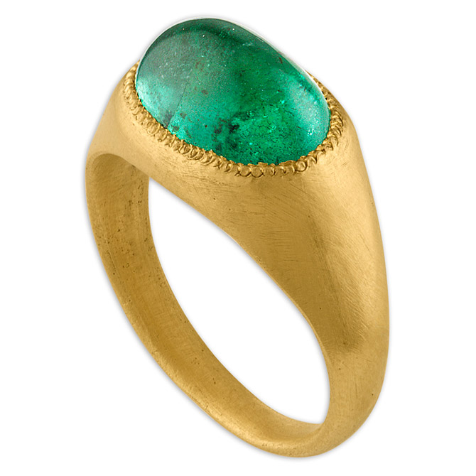 Prounis emerald Roz ring