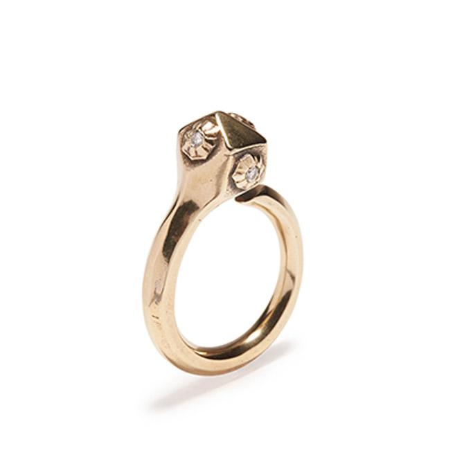 Philip Crangi small snake head ring