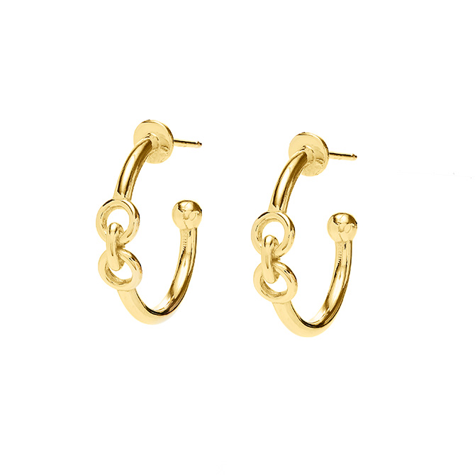 Rush jewelry gold hoops