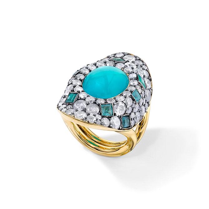 Vram chrysocolla ring