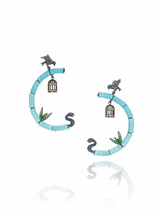 Wendy Yue turquoise earrings