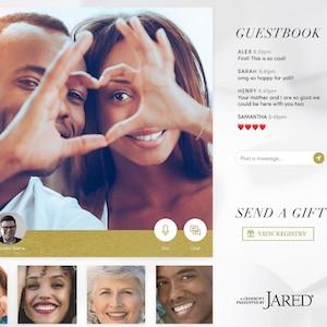 jared virtual wedding