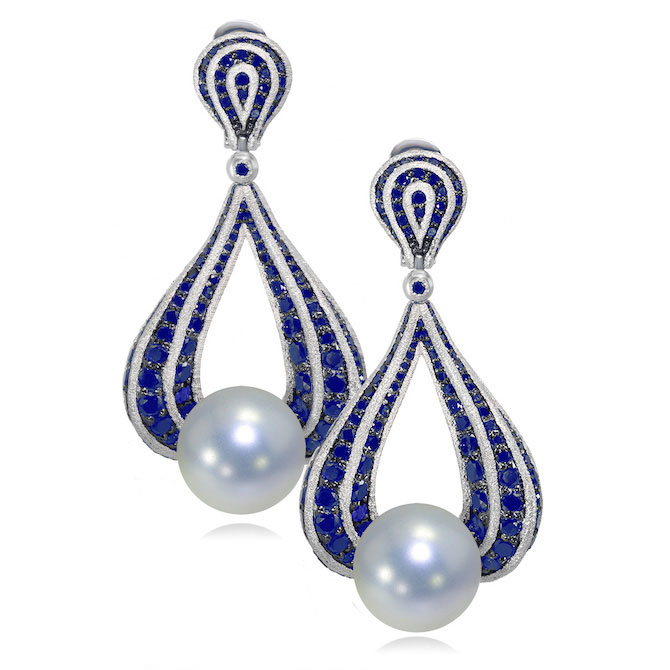 Alex Soldier pearl sapphire earrings