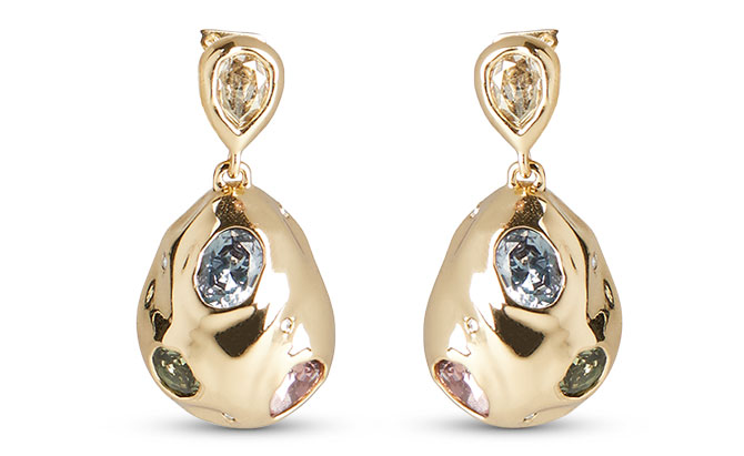 Alexis Bittar crumpled stone earrings