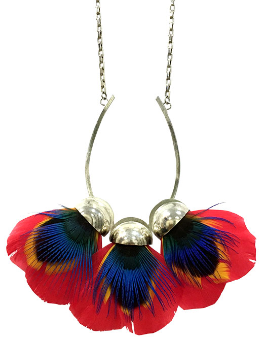AnaGold petale feather necklace
