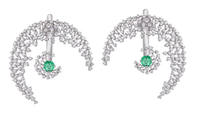 Ananya Scatter moon earrings