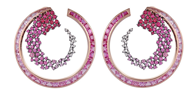Ananya Scatter ombre hoops