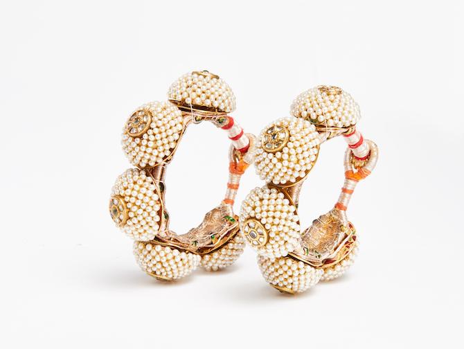 Antique Indian pearl bracelets