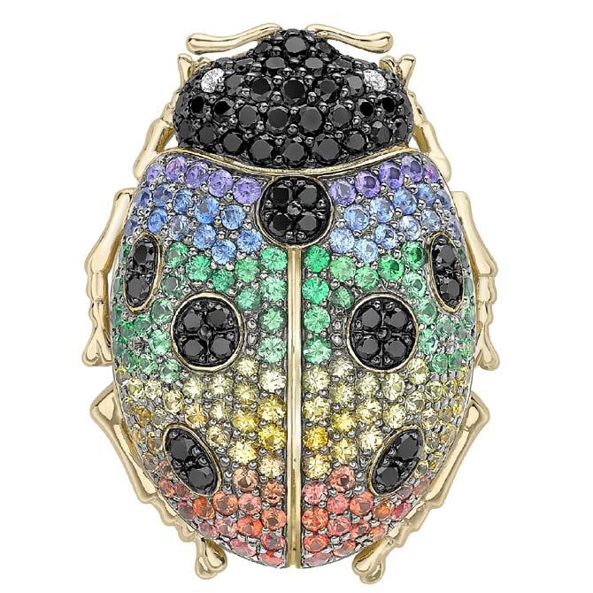 Theo Fennell ladybug brooch