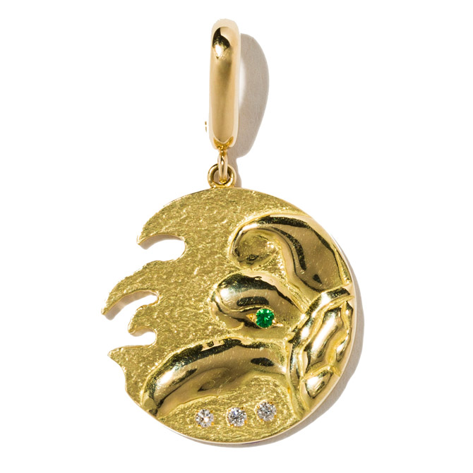 Milamore turtle coin charm