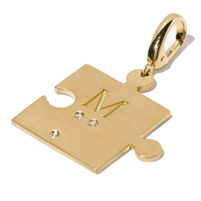 Milamore Puzzle Piece charm