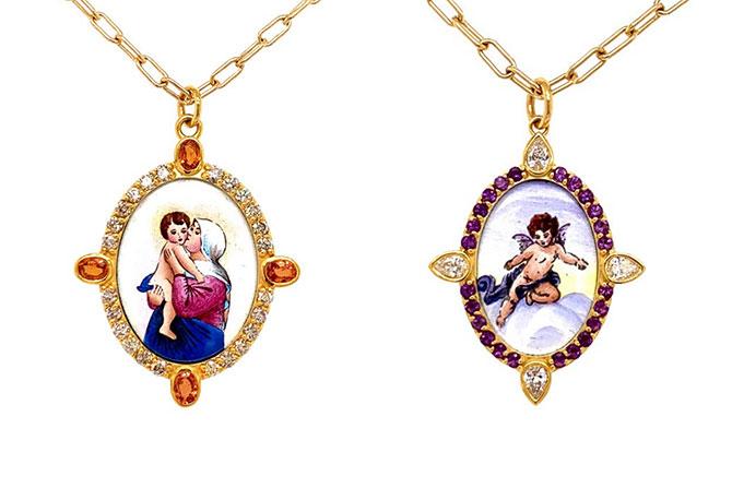 Colette painted pendants