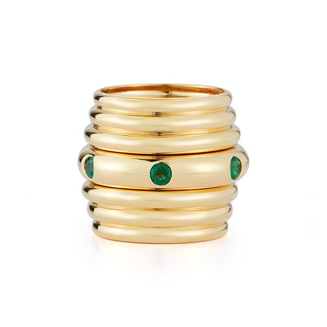 Debora Pagani Honey Stacking ring
