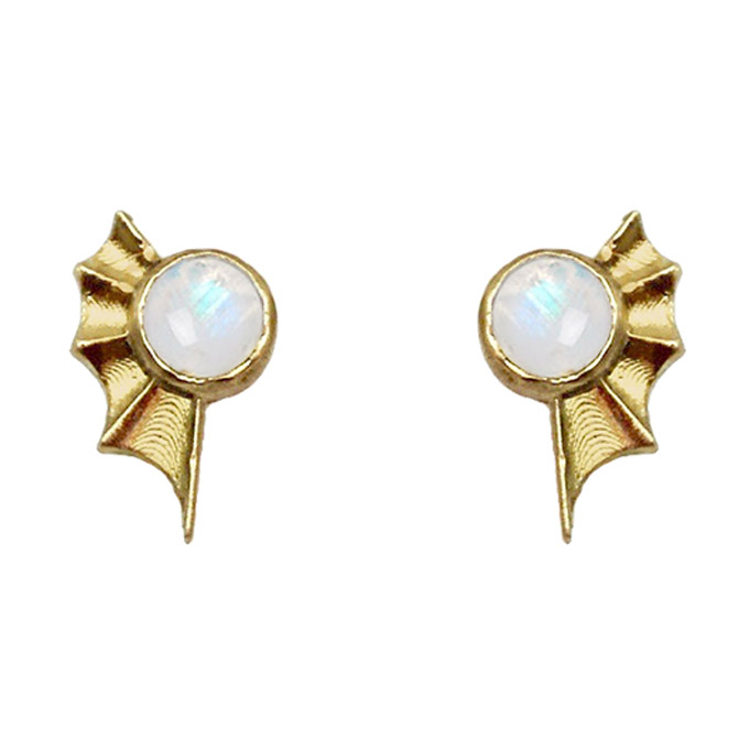 Lauren Newton moonstone mermaid earrings