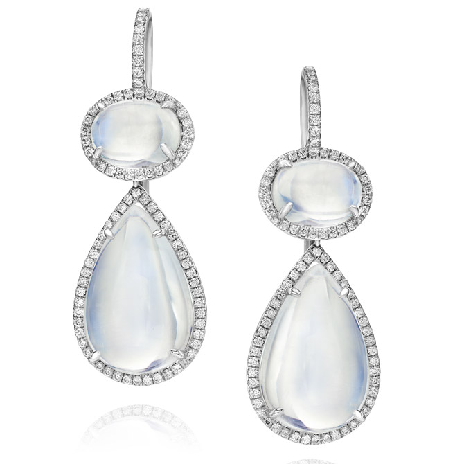 Walters Faith moonstone earrings
