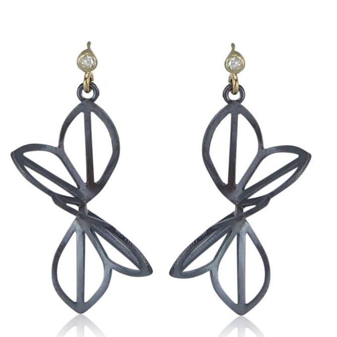 Karin Jacobson medium Anise Fold earrings