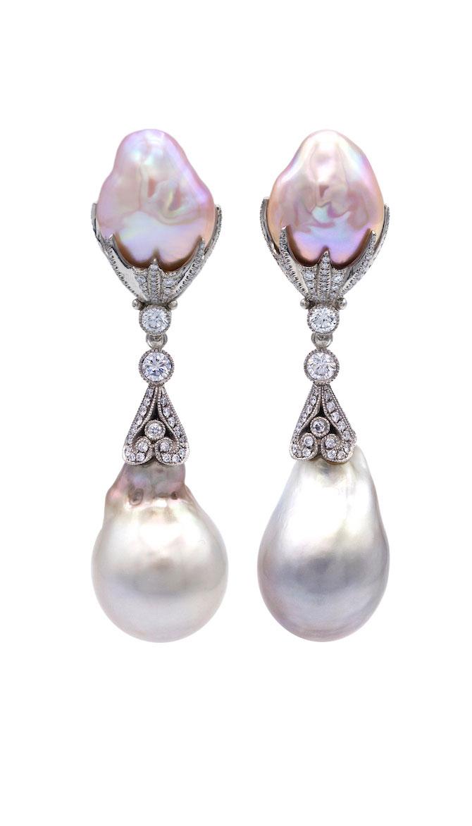 Featherstone Poseidon Pearl Earrings