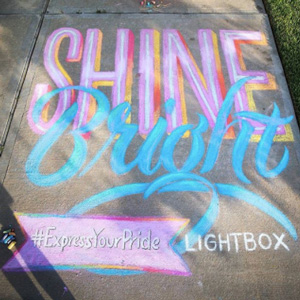 Lightbox Tinlun Studio chalk