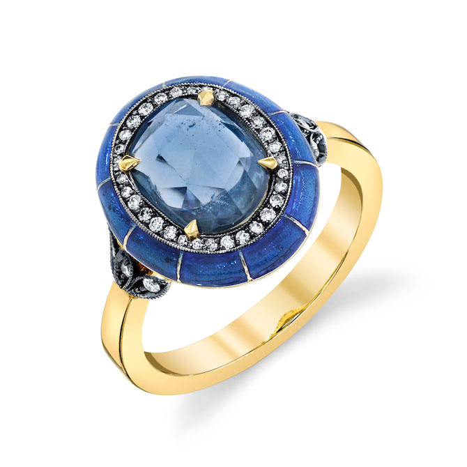 Lord Jewelry blue sapphire ring